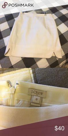 J crew skirt Like new, wool winter white J. Crew Skirts Mini