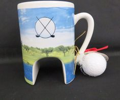 Putt-O-Mug Funny Putting Practice Golf Mug Novelty Golfer Mug & Ball Hole NWT  #TheFunFactory
