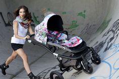 Der Britax affinity Jungle Boogie in Graffiti-Style.  #streetart #street #art #urbanart #Kinderwagen