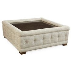 Check out this item at One Kings Lane! Grayson Ottoman, Stonewash