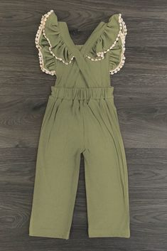 Olive Ruffle Jumpsuit - Sparkle in Pink