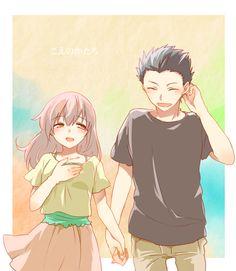 Browse A silent voice Koe no Katachi collected by and make your own Anime album. Fanart Manga, Manga Anime, Scott Pilgrim, Anime Couples, Cute Couples, A Silence Voice, A Silent Voice Anime, Anime Love, Anime Guys
