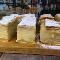 Vanilla Slices freshly baked at Red Hill Epicurean.