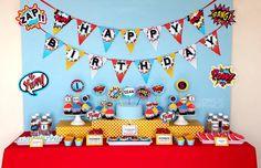 Superhero BIRTHDAY Party Printable Package & by OwliePowlie