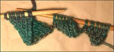 Very clear tutorial of stockinette stitch entrelac -- lots of step photos.