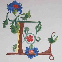 Jours de lumière - Leslie a fait... Illuminated Letters, Illuminated Manuscript, Painting, Images, Decor, Ideas, Lyrics, Drop Cap, Calligraphy