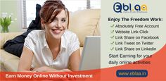 #Earn #Money #Online #Without #Investment #Free #Signup Now: https://eblaa.in/customer-signup