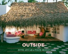 outdoor lounge at Hotel Azucar