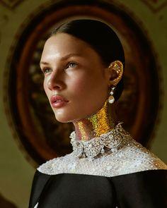 How to Spend It Magazine spotlights gorgeous party-ready gowns with its latest issue. Model Alexandra Martynova poses for Andrew Yee