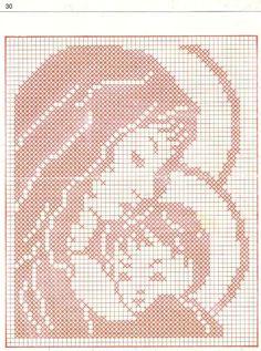 madonna a filet Crochet Patterns Filet, Christmas Crochet Patterns, Holiday Crochet, Cross Stitch Fabric, Cross Stitch Embroidery, Cross Stitch Designs, Cross Stitch Patterns, Fillet Crochet, Crochet Angels