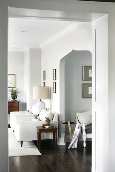 For a pale and subtle gray, choose Benjamin Moore's Gray Owl OC-52. It's the color I specify in every home I design. Light Grey Paint Colors, Light Grey Walls, Gray Walls, Grey Colors, Paint Colours, White Walls, Home Design, Interior Design, Eclectic Design