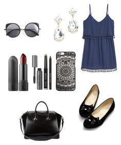"""""""#summer"""" by milafashion-35 ❤ liked on Polyvore featuring moda, MANGO, Givenchy, Bobbi Brown Cosmetics e Wood Wood"""