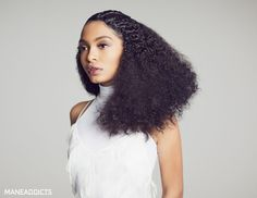 Yara Shahidi Takes Heatless Curls to New Heights; Hair by Cesar Ramirez