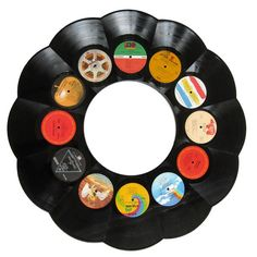 Each one is handcrafted from a random selection of recycled vintage LP records, so you can be sure that none of your friends will have exactly the same unique wall decor. Description from kegworks.com. I searched for this on bing.com/images