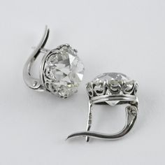 View this item and discover similar stud earrings for sale at - A pair of French Antique platinum earrings with diamond. The earrings have an old mine-cut diamond with an approximate total weight of carats, and Platinum Earrings, Crystal Earrings, Diamond Earrings, Diamond Art, Diamond Studs, Jewelry Gifts, Fine Jewelry, Jewelry Making, Jewelry Ideas