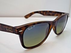 27e145b86ff Authentic Ray-Ban RB 2132 894 76 Tortoise Blue Green Polar 55 mm Sunglasses   240  fashion  clothing  shoes  accessories  unisexclothingshoesaccs ...