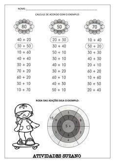 NOME:_____________________________________________________ CALCULE DE ACORDO COM O EXEMPLO: RODA DAS ADIÇÕES SIGA O EXEMPL... Math Worksheets, Math Activities, Counting To 100, Tools For Teaching, Third Grade Math, Study, Messages, Learning, School