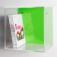 Mensola Cubo color 33x33 p.25 spessore 5mm. Mensole modulari a cubo in #plexiglass #mensole #cubo #shopping #online #arredo #interiordesign #arredamento #libreria #metacrilato #trasparente   #verde #green Prezzo : 80€