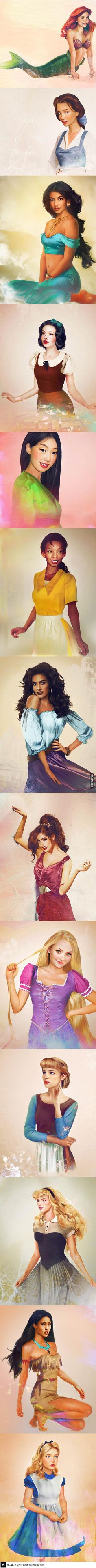 Real life Disney characters made by Jirka Väätäinen  Alyssa would LOVE this!!