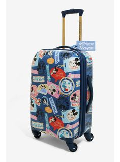 a466faef084 Disney Mickey Mouse World Traveler 21 Inch Spinner Luggage - BoxLunch  Exclusive