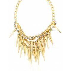 WOMENS Gold Spike NECKLACE (ASHN30)
