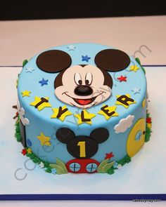 Mickey - 1st Birthday Mickey Cake …