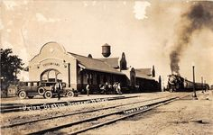 Tucumcari New Mexico view of Union Train Station depot real photo pc (Y5438)