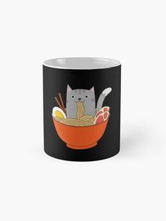 Features wraparound prints Dishwasher safe Made from Ceramic Cat Lover Gifts, Cat Lovers, Ramen Bowl, Buy A Cat, Mug Designs, Wraparound, Classic Style, Dishwasher, Kawaii