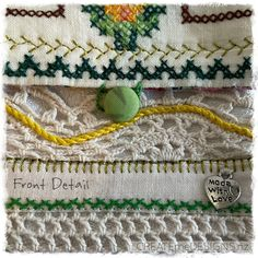 POUCH | Cross-stitch Joy by CREATEmeDESIGNS on Etsy Fabric Scraps, Little Gifts, Doilies, Gifts For Women, Cross Stitch, Pouch, Joy, Beads, Handmade
