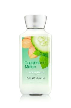 Cucumber Melon - Body Lotion - Signature Collection - Bath & Body Works - America's #1 Body Lotion! Infused with Shea Butter and our exclusive Daily Moisture Complex, our enhanced lotion contains more of what skin loves, leaving it feeling incredibly soft, smooth and nourished. Fortified with nutrient-rich ingredients like protective Vitamin E and conditioning Vitamin B5, our fast-absorbing, non-greasy formula delivers 16 hours of continuous moisture.
