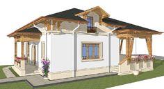 Sunt frumoase proiectele de case tradiționale românești concepute de arhitectul Adrian Păun | Adela Pârvu - Interior design blogger Design Case, Traditional House, Romania, Gazebo, Outdoor Structures, House Design, Interior, Cottages, Home