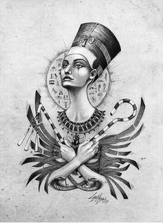 Ancient Memories Nefertiti - Art by Lorena Assisi: Egyptian Symbols, Ancient Egyptian Art, Ancient Aliens, Ancient Greece, Mayan Symbols, Viking Symbols, Viking Runes, Ancient Symbols, Ancient History