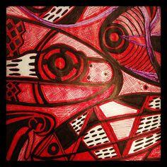 EN RED Tinta sobre papel Www.facebook.com\A mas arte mas parte #art #argentina_ig #arte #modernart #artist #decorcriative #design_art #modernism #gallery #painting #contemporary #color #red #modern #artvillage #artlover #dubaigallery #argentina #popyacolour #expressionism #artistic #pencil #pens #Pen
