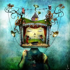Somewhere between the work of Tim Burton and Terry Gilliam lies the beautifully imaginative art of Alexander Jansson. His digital..
