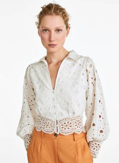Broderie anglaise shirt - View all - Shirts and blouses - Collection - Uterqüe United Kingdom