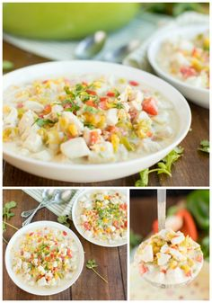 Easy to make on a busy night or over the holiday season, this Mexican Corn Chowder is packed with flavor and insanely delicious. #corn #chowder Best Soup Recipes, Rib Recipes, Easy Dinner Recipes, Mexican Food Recipes, Crockpot Recipes, Vegetarian Recipes, Chicken Recipes, Easy Meals, Cooking Recipes