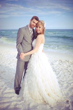vintage beach wedding photo. gorgeous!
