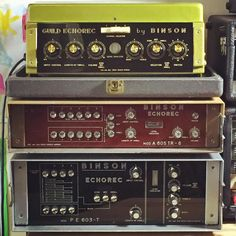 Happy Families. The Binson PE 603 has now left the building the 605 is ours the stunning Guild Echorec 2 is being primped for a photoshoot as I write this. WeBinsons...