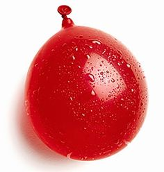 """Amazon.com: Cool & Fun 50 Count Pack of 3"""" - 6"""" Inch """"Standard Size"""" Water Balloon Bomb Grenades Made of Biodegradable & Eco-Friendly Latex Rubber w/ Cool Basic Design Red w/ Screw On Hose Attachment: Toys & Games"""