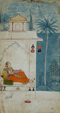 Series Title: Ragamala Creation Date: ca. 1680 Display Dimensions: 10 1/32 in. x 6 1/32 in. (25.5 cm x 15.3 cm) Credit Line: Edwin Binney 3rd Collection Accession Number: 1990.499 Collection: The San Diego Museum of Art