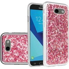 1274ee578c Samsung Galaxy Amp Prime 2/Express Prime 2/J3 (2017)/J3 Eclipse/J3 Emerge/J3  Luna Pro/J3 Mission/J3 Prime/Sol 2 Case, by Insten Frozen Glitter Case For  ...