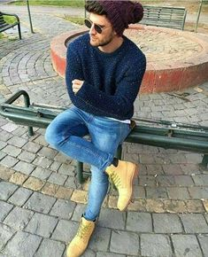 Ideas timberland boats outfit winter jeans street styles for 2019 Hipster Fashion, Men's Fashion, Male Hipster, Hipster Style, Timberland Outfits Men, Mode Man, Casual Outfits, Men Casual, Winter Fashion Casual