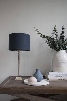 dbab9cbb343 Love the richness of this midnight blue lamp shade. A simple cylinder shape  combined with