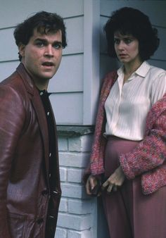 Still of Ray Liotta and Lorraine Bracco in Goodfellas, 1990