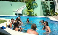 Pool party Room2Board, Hostel and Surf School, Jaco, Costa Rica