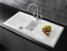 porcelain kitchen sink best floor for 16 designed by reginox images taps single bowl fresh sinks of related to white