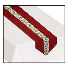 Christmas Holly Fabric Table Runner Decoration