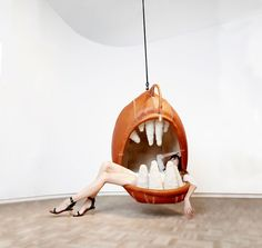 Sitting In Animals Mouths Has Gotten Comfy With Hanging Chairs Made Using South African Crafting Skills