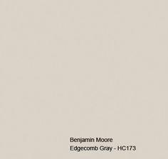 BM - Edgecomb Gray - a good basic Gray Trim, White Trim, Grey, Guest Suite, Master Suite, Benjamin Moore Edgecomb Gray, Off White Paints, Paint Samples, Paint Colours