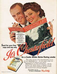 Fred Astaire and Rita Hayworth - Chesterfield Cigarette Ad. - (1941)